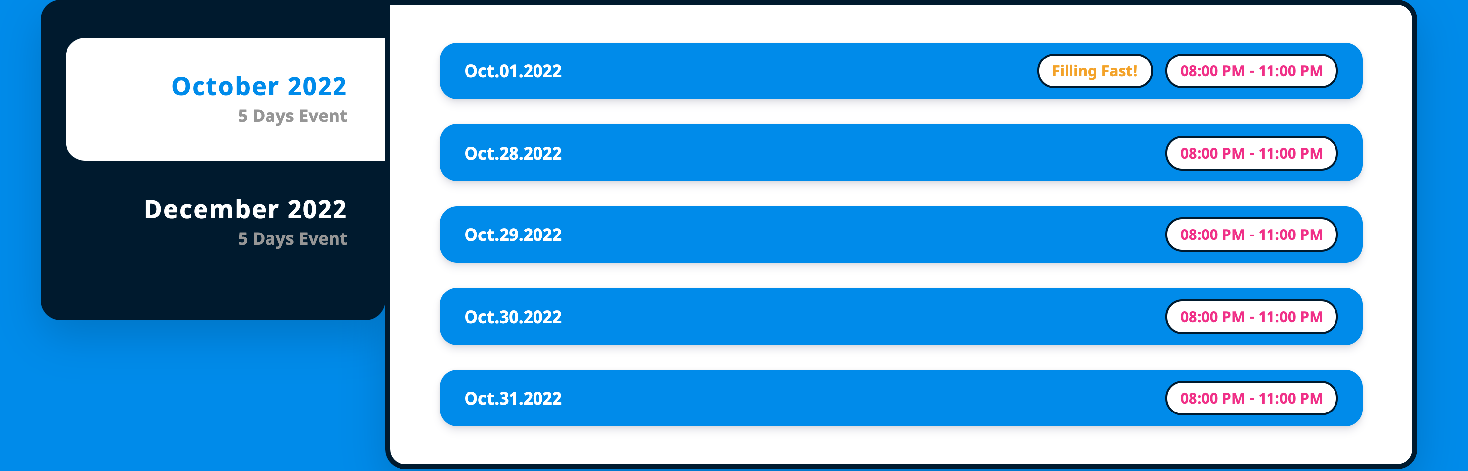 Skip repetitive schedule