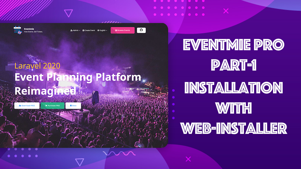 Eventmie Pro - Installation with Web-installer Video Tutorial