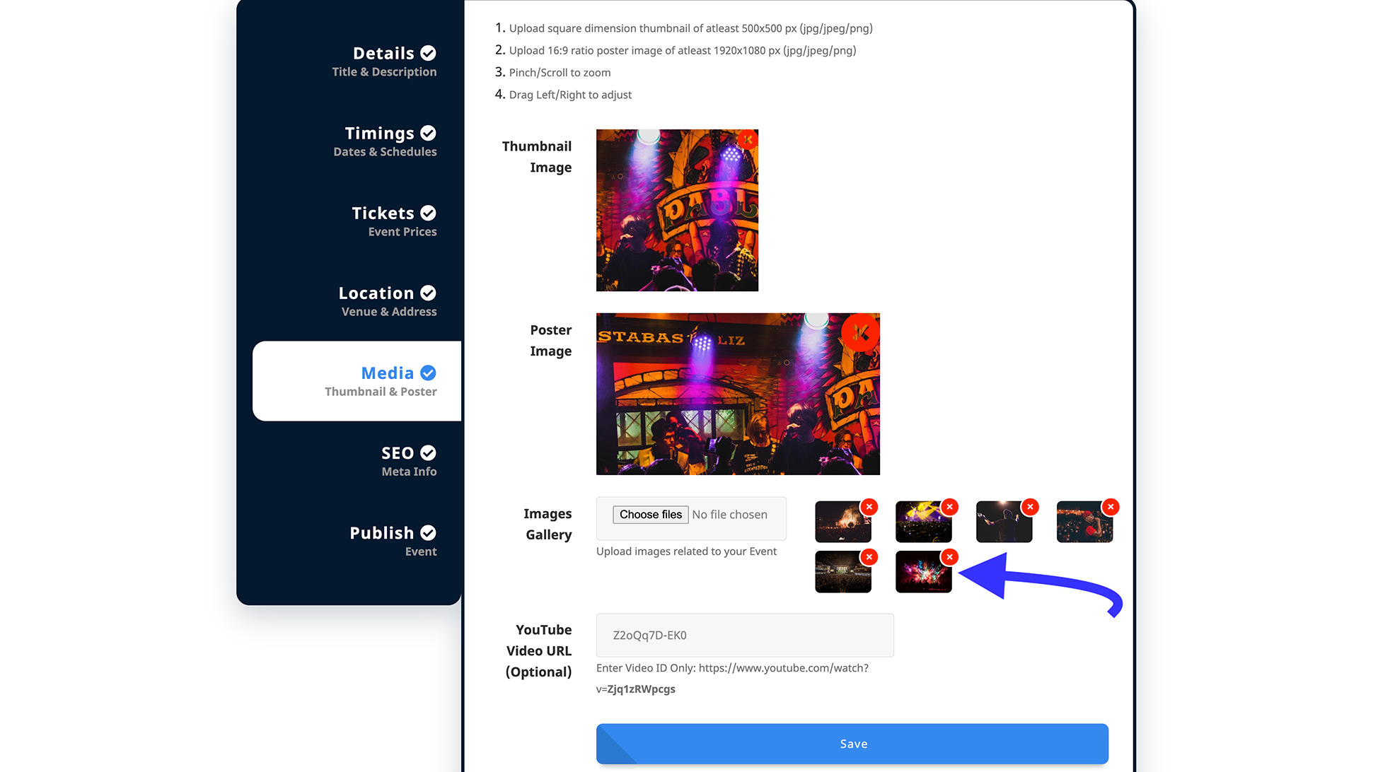Add/Remove Gallery images