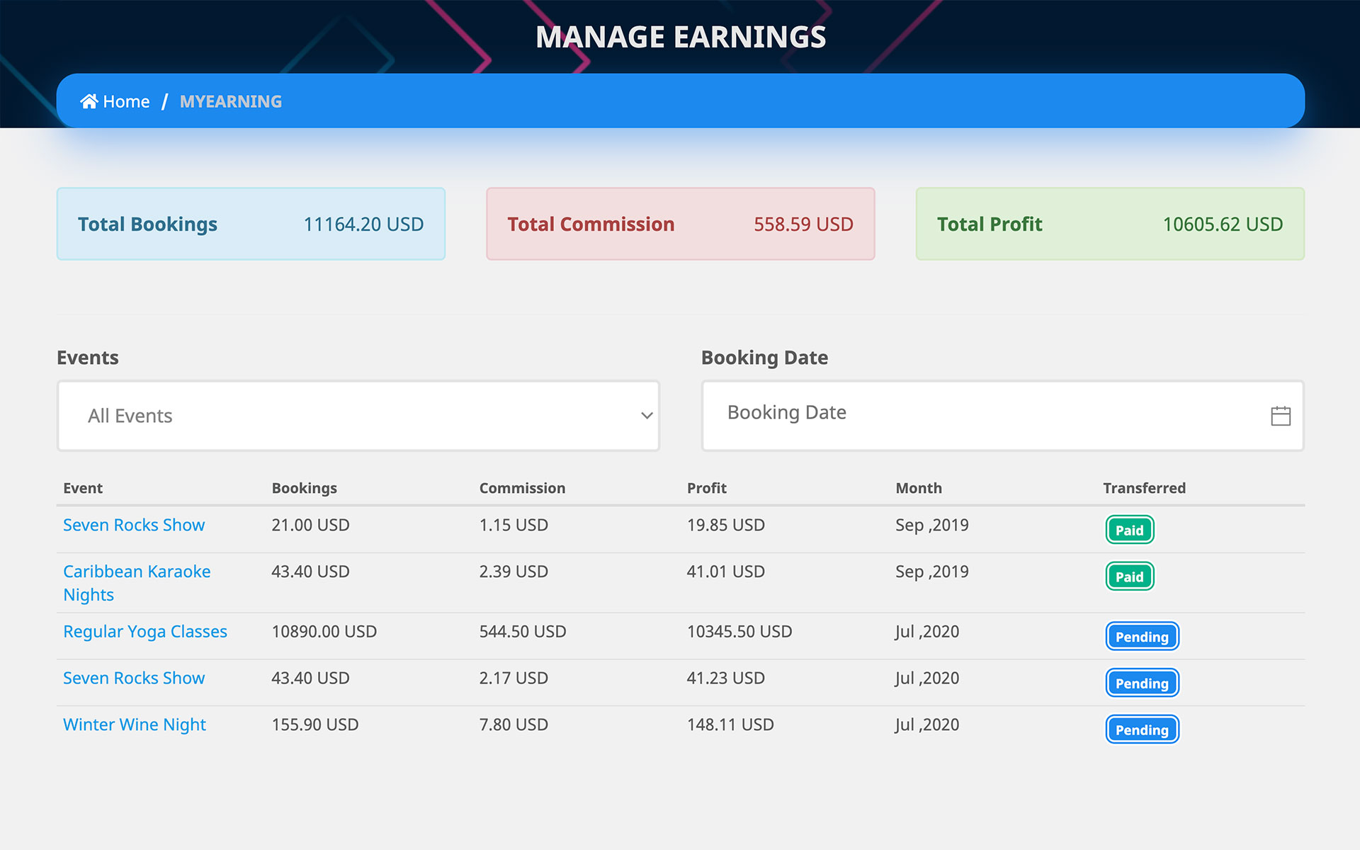 manage-bookings-organizer-earnings